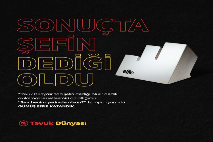 Tavuk Dünyası, bu sene de Effie Türkiye'de restoran kategorisinin en büyük ödülünü kazandı