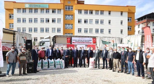 Bin 250 Ton Sertifikalı Buğday Törenle Çiftçilere Dağıtıldı