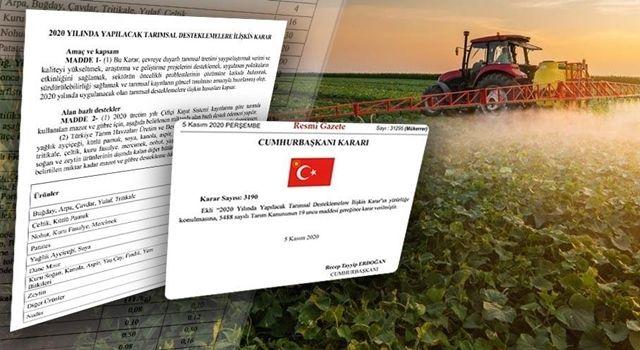 Çiftçilere Yapılacak Tarımsal Destek Miktarları Belli Oldu
