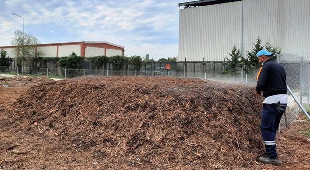 Budama atıkları kompost gübre oldu