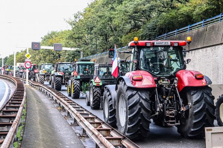 Hollanda'da Çiftçilerden Hükümetin Tarım Politikasına Protesto