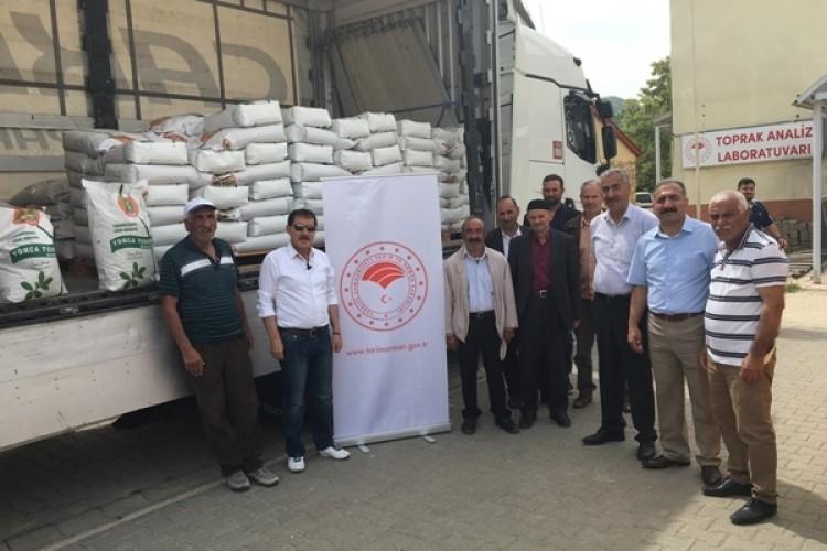 Yüzde 50 Hibeli Çiftçilere 6 Ton Tohum Dağıtıldı