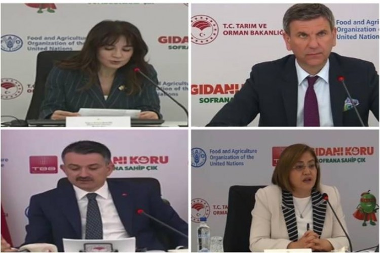 FAO ve Tarım ve Orman Bakanlığı ulusal GIDANI KORU Kampanyası kapsamında Türkiye Belediyeler Birliği ile özel oturum gerçekleştirdi