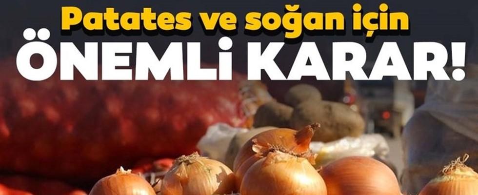 Patates ve Kuru Soğan İhracatına Kısıtlama Geldi