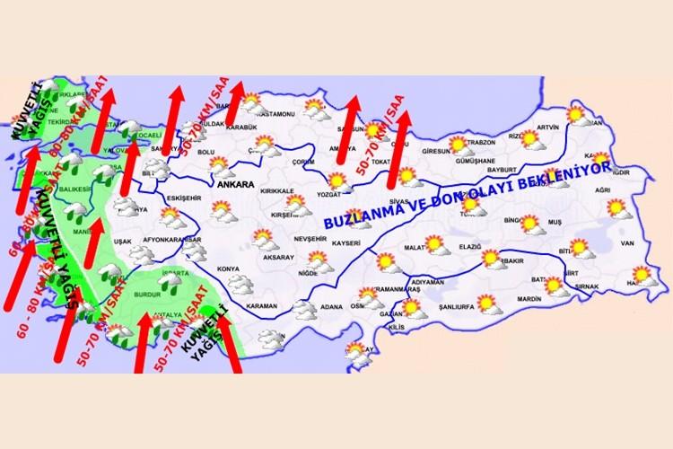 Meteoroloji'den Kritik Sağanak yağış Uyarısı