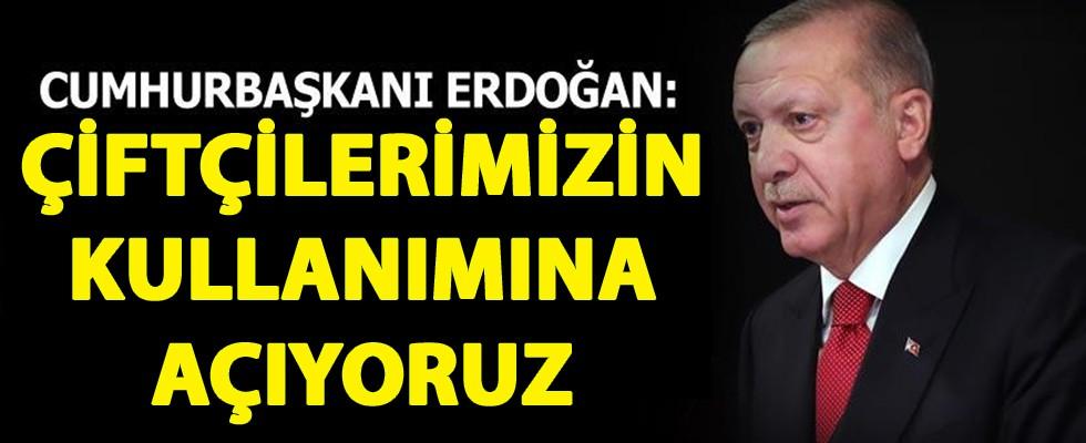 Cumhurbaşkanı Erdoğan Açıkladı! Yeni Hazine Araziler Tarıma Açılıyor