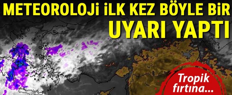 Son dakika... Meteoroloji'den 'tropik fırtına' uyarısı! 120KM! Eğer kasırganın yönü değişmezse…