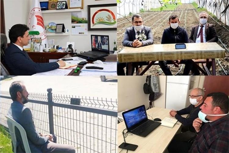 Dijital Tarım Pazarı Toplantısına Yalova'lı Üreticilerde Katıldı