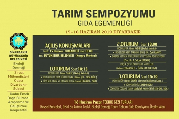 Diyarbakır'da Tarım Sempozyumu Düzenlenecek