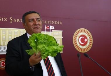 """Bakan'ın """"Mevsim Sebzesi Tüketin""""  Önerisine Gürer'den """"Etiketli"""" Yanıt"""