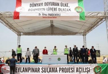 Bakan Pakdemirli, 60 Bin Dekar Alanı Suya Kavuşturacak Projenin Açılışını Yaptı