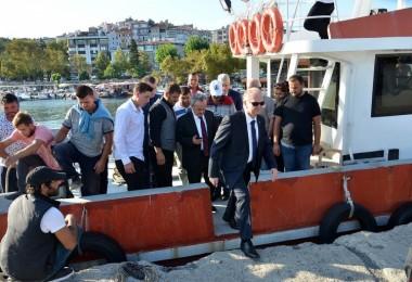 Vali Mehmet Ceylan Balıkçı Barınağında İncelemelerde Bulundu