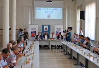 Karaman Ticaret Borsasında 2018 Yılı İlk Mahsül Arpa Satışı Gerçekleştirildi