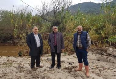 Söke'de yağışlar ekili arazilere zarar verdi