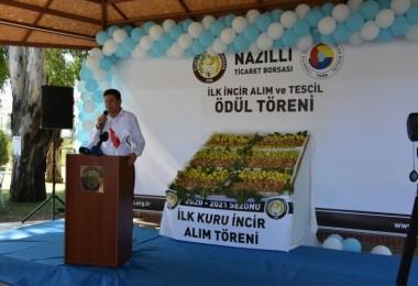 Başkan Özcan ilk kuru incir alım törenine katıldı