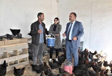 Genç Çiftçinin Yumurta Tavukçuluğu İncelendi