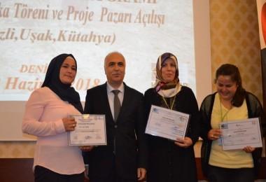"""""""Tarımda Kadın Girişimciliğinin Güçlendirilmesi Programı"""" Proje Pazarı ve Sertifika Töreni Gerçekleştirildi"""