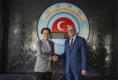 İyi Parti Genel Başkanı Akşener, TZOB'u ziyaret etti