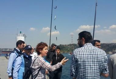 Beşiktaş'ta Amatör Su Ürünleri Avcılığı Yapan Balıkçılara Denetim Yapıldı