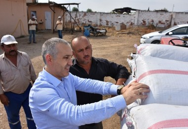 İl Müdürü Öztürk, TMO Kuru Üzüm Alım Noktasında İnceleme Yaptı