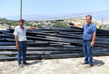 Mersin Büyükşehirden Üreticilere Sulama Borusu Desteği