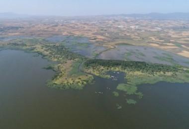 Su Altında Kalan Tarım Arazileri Havadan Görüntülendi