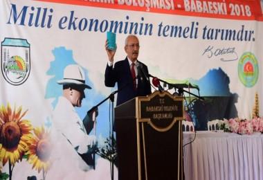 Kılıçdaroğlu: Çiftçiye Faiz Ektirip, Faiz Biçtiriyorlar
