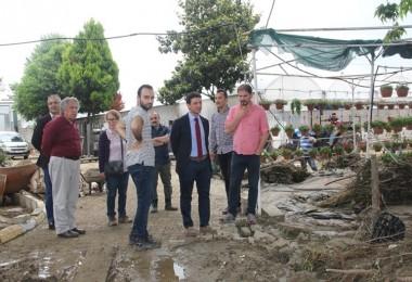 Tarım İl Müdürü Sel Taşkınlarından Zarar Gören Üreticileri Ziyaret Etti