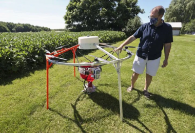 AeroSeeder hava aracı; örtü bitkisi ekimini kolaylaştırıyor