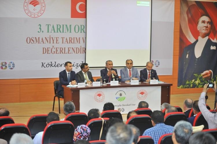 Osmaniye'de Tarım ve Orman Sektörünün Değerlendirme Toplantısı Yapıldı