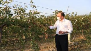 Başkanı Örki Çiftçinin Yanında