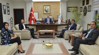 Türkiye Sigorta ve Kent Türk Tv'den Başkan Akay'a Ziyaret