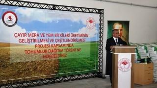 Üreticilere Yüzde 70 Hibeli Yem Bitkisi Tohumu Dağıtıldı