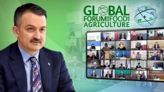"""Bakan Pakdemirli, 82 Ülkenin Tarım Bakanının Yer Aldığı """"13. Tarım Bakanları Konferansı""""na Video Konferansla Katıldı"""