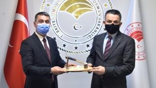 Başkan Şimşek'ten Tarım Ve Orman Bakanı Pakdemirli'ye Ziyaret