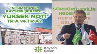 Sermaye Piyasası Kurulu (SPK) Lisansı İle Faaliyet Yürüten Kredi Derecelendirme Kuruluşu Turkratıng'den Kayseri Şeker'e Yüksek Not