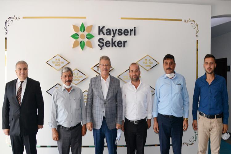 Sivas Pancar ekicileri ve Develi taşıyıcılar kooperatifi yöneticileri Kayseri Şeker'de