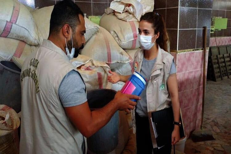 Gaziantep'te 15 ton küflenmiş biber imha edildi