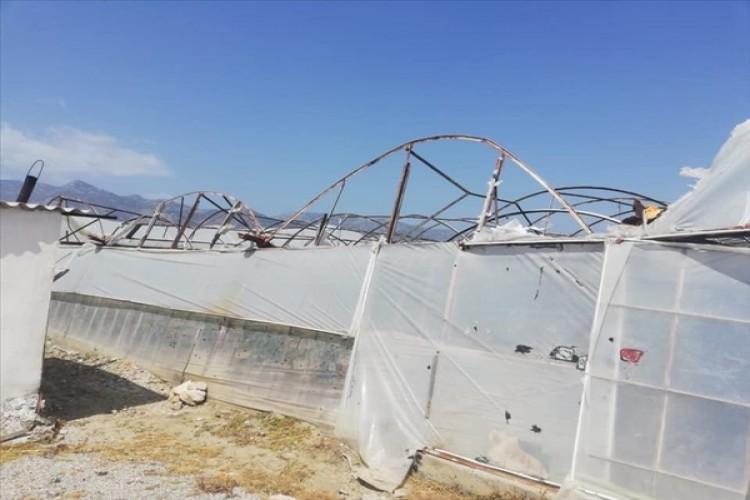 Muğla'da Şiddetli Rüzgar Seralarda Zarara Neden Oldu